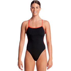 Funkita Cut Away One Piece Swimmsuit Ladies Still Black Solid